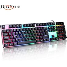JUDYelc 104 Key USB LED Backlit USB Wired Lighting Game Keyboard / Business Office