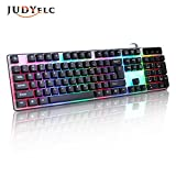 keyboard with touchpad wired - JUDYelc 104 Key USB LED Backlit USB Wired Lighting Game Keyboard / Business Office
