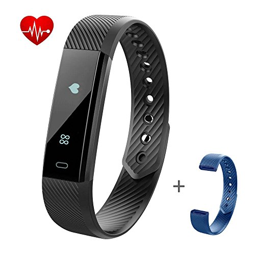 Fitness Tracker Watch,LOVK Pedometer Watch Blue...