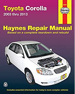 Toyota corolla geochevrolet prizm automotive repair manual john toyota corolla 2003 thru 2013 haynes repair manual fandeluxe Images