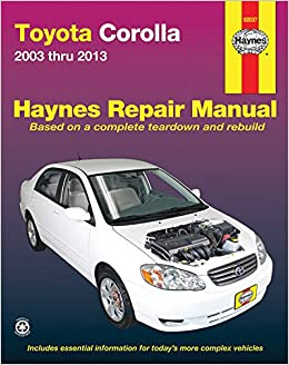 Amazon toyota corolla 2003 thru 2013 haynes repair manual toyota corolla 2003 thru 2013 haynes repair manual 2036 free shipping fandeluxe Gallery
