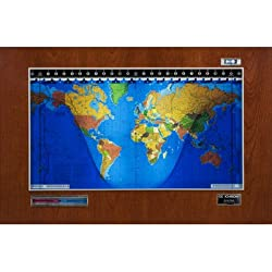 Original Kilburg Geochron World Clock Finish: Wood Veneer Cherry