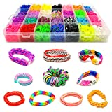 12500 + Rainbow Loom Grand Refill Pack – Rubber Loom Bracelets Refill Kit for Kids – Bracelet and Rubber Bands Jewelry Making Kit Refill Package – 42 Colorful Bands Kit for Loom Bracelets Arts Crafts
