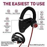 Bluetooth Headphones w/ 12+ Hours Battery – Best Workout Wireless Sport Earphones w/Mic – IPX7 Waterproof Music Earbuds for Gym Running (Sport Headphones)
