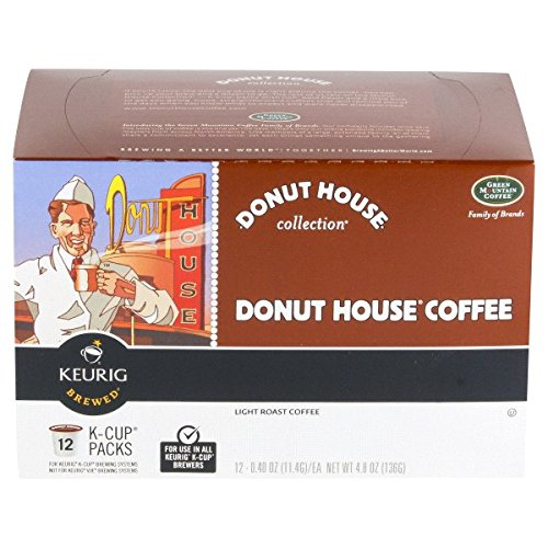 DONUT HOUSE COLLECTION KEURIG 12 Piece Green Mountain - Green Mountain Donut House Coffee