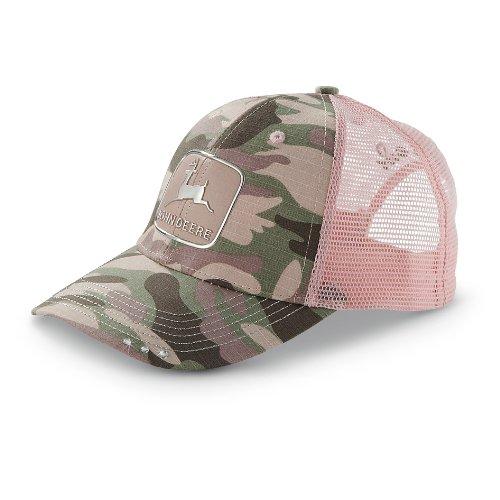 (John Deere Liquid Metal Trademark CAMO Cap)