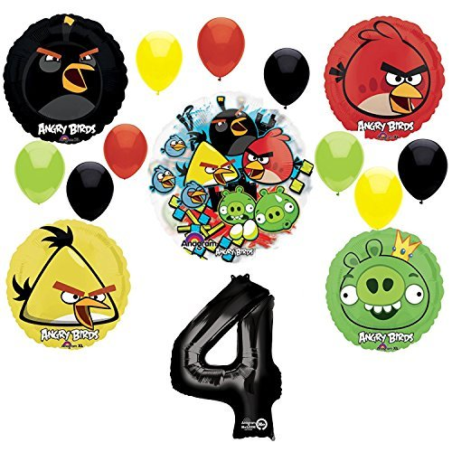 Angry Birds 4th Birthday Party Supplies and Group