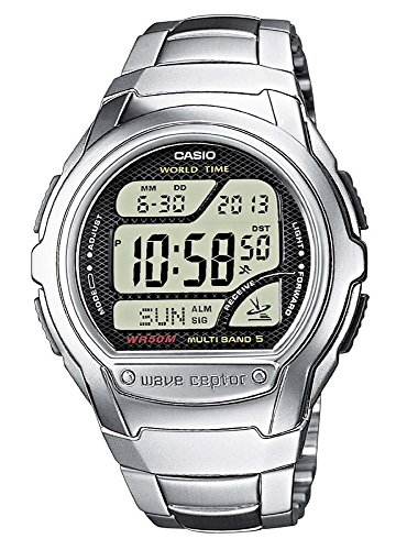 Casio Wv-58Du-1Avef Mens Wave Ceptor Bracelet Digital Watch ()