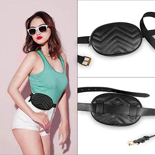 Pink Floral Crown Bum Bag Across Body Big Fanny Pack Across The Chest Phone Travel Clip Hip Bag Waterproof Damask Waist Pouch