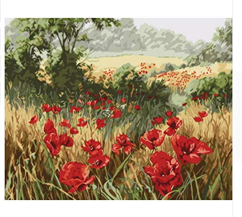 (QIANDONG1 Painting by Numbers Paint by Number for Home Decor for Living Room)