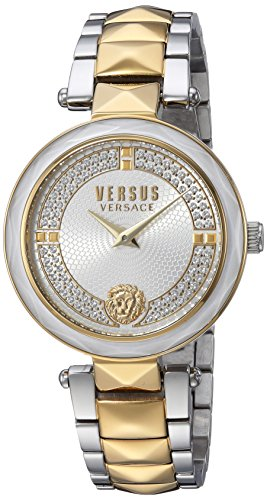 Versus by Versace Women's 'Covent Garden Crystal' Quartz Stainless Steel Casual Watch, Color:Two Tone (Model: VSPCD2417)