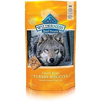 BLUE Wilderness Trail Treats Grain Free Turkey Biscuits Dog Treats 10-oz
