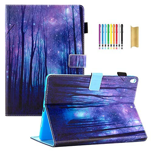 Dteck 10.5-inch Case for Apple iPad Pro 2017 (A1701/A1709) / New iPad Air 2019 (A2152/A2123/A2153) - Pretty Folio Smart PU Leather Magnetic Stand Case with Pencil Holder/Auto Sleep Wake-Purple ()