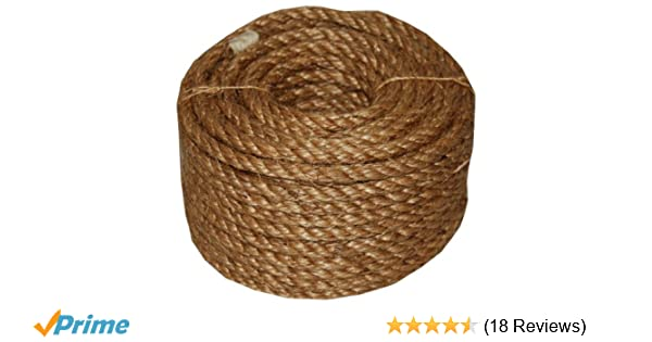 T W Evans Cordage 26 063 3 4 Inch By 50 Feet 5 Star Manila Rope Tools Home Improvement Tarps Tie Downs