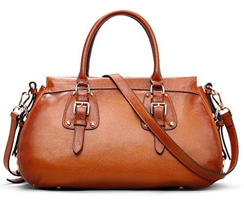 AINIMOER-Luxury-Womens-Soft-Popular-Portfolio-Zippered-Top-handle-Tote-Shoulder-Bag-Purse-Hobo-Handbag
