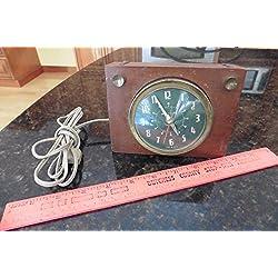 Vintage Westclox Solid Mahogany Alarm Clock Brucewood Model S10-S -1950's