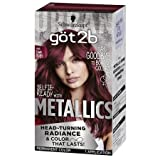 Got2b Metallic Permanent Hair Color, M68 Dark Ruby (Pack of 2)