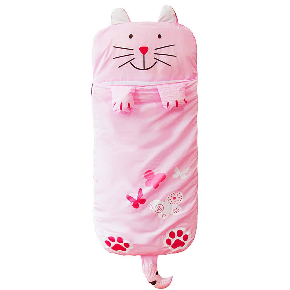WINNUO Kids Sleeping Bag - Children Slumber Bags Nap Mat Soft Warm Girls Boys Cute Cat/Rabbit/Crocodile/Dinosaur Slumber Bag by WINNUO
