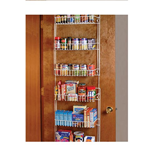 Heaven Tvcz Over the Door Storage Rack White Shelf Kitchen Pantry Spice Space Saver Organizer for the pantry