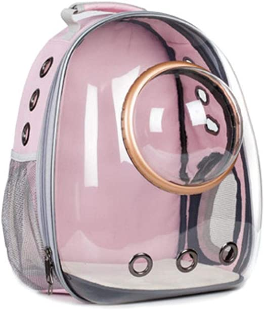 Porta Mascotas Mochilas Bolsos Astronauta Burbuja Bolsa De Viaje Para Gato Que Lleva Al Aire Libre Cápsula Espacial Transpirable Portador Transparente Mochila Para Mascotas Para Perros Pequeños, Azu: Amazon.es: Productos para mascotas