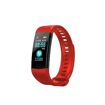 SoloKing Y5 Pulsera Actividad Deportiva Reloj Inteligente Pantalla Color con Pulsómetros,Presión Arterial,Monitor de Sueño,Podómetro,Contador de ...