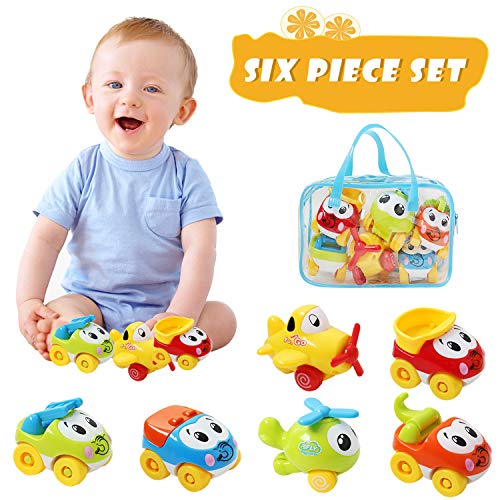 Hip Mall Car Toys for Kids, Baby Push and Go Cars Pull Back Planes, Early Educational Toddler Toy Cars 1 2 3 Old Baby Birthday Gifts Toys