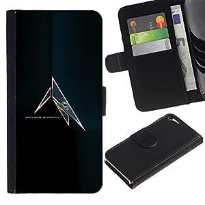 JackGot ( Máquina Supremacía ) Apple iPhone 5 / iPhone 5S la tarjeta de Crédito Slots PU Funda de cuero Monedero caso cubierta de piel