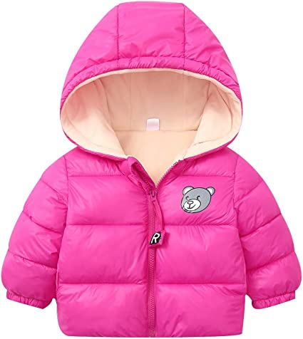 Boys Toddler Baby Warm Winter Jacket Hoodies Outwear Snowsuit Coat Clothes