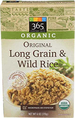 Rice: 365 Everyday Value Organic Long Grain & Wild Rice