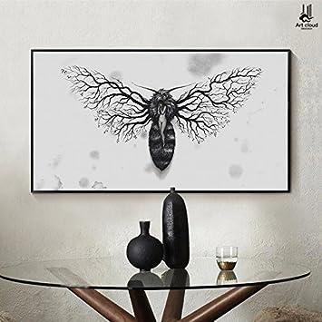Patined Biene Göttin Schlafzimmer Bett Dekorative Malerei Der Moderne,  Minimalistische Version Des Kreuzes Wandmalereien Kreative
