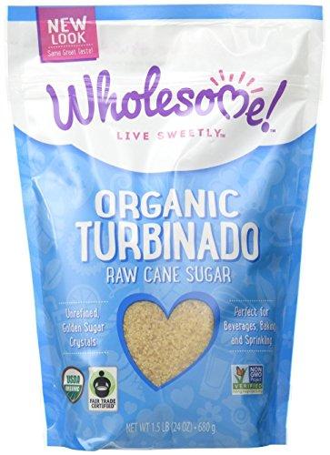Wholesome Sweeteners Organic Turbinado Raw Cane Sugar, 24 oz (Turbinado Health Sugar)