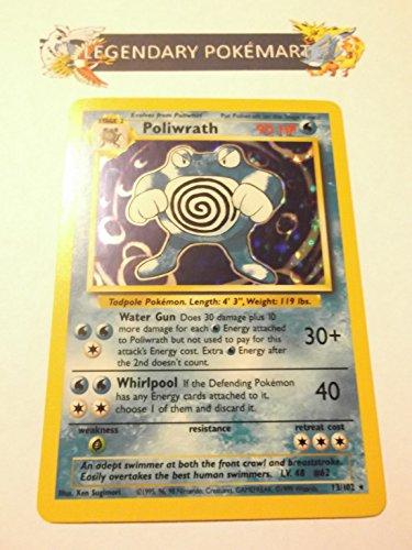 Holofoil Card Set (Pokemon Base Set Holofoil Card #13/102 Poliwrath)