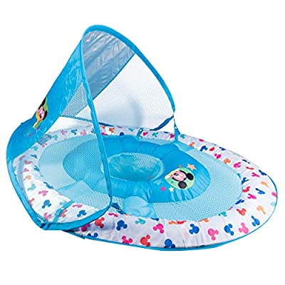 SwimWays Baby Spring Float with Canopy - Mickey Mouse: Toys & Games