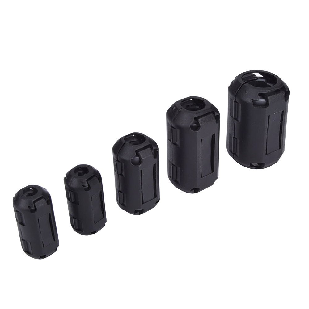 Ring Cores Ferrite Noise Suppressor Cable Clip 3mm//5mm//7mm//9mm//13mm 20 X