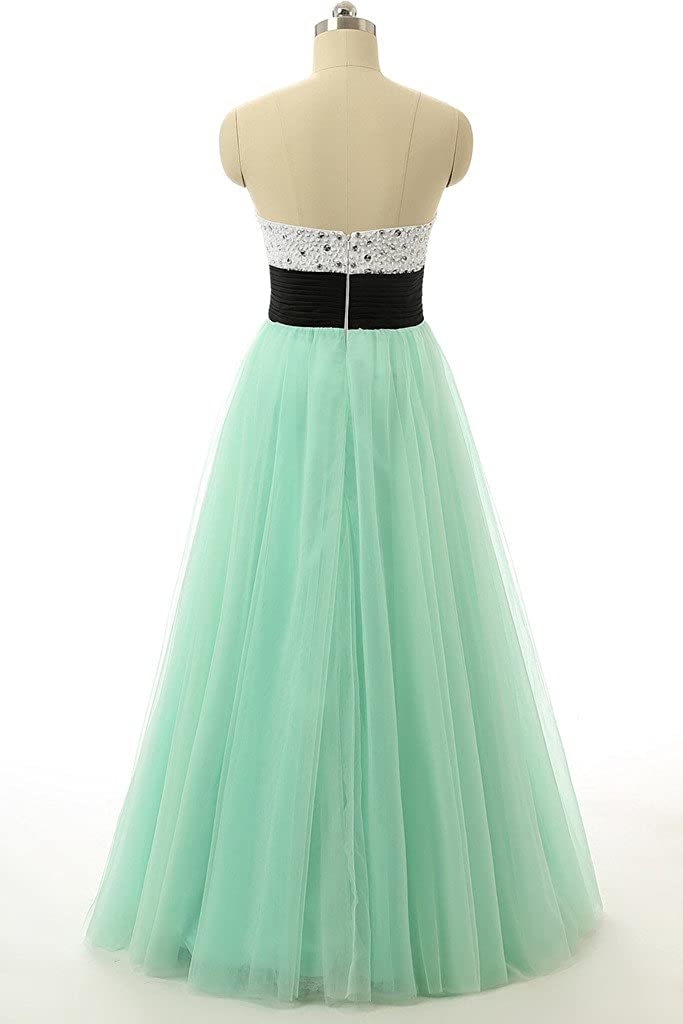 Baijinbai Mint Sweetheart Tulle Prom Dress Quinceanera Dress Ball Gown: Amazon.co.uk: Clothing