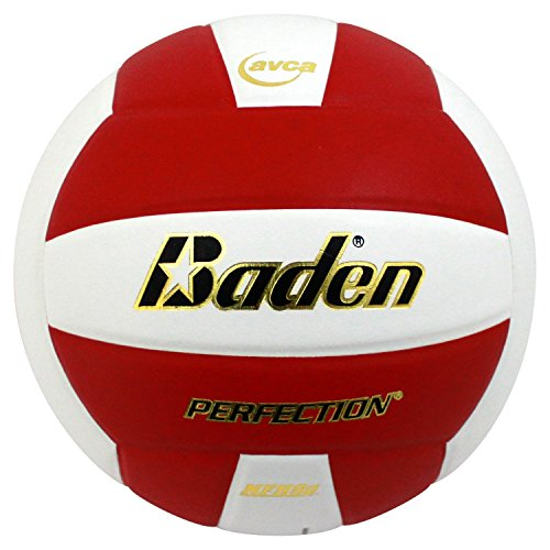 Baden Perfection Elite Official Size 5 Volleyball, Red/White