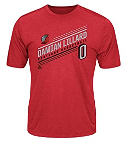 NBA Men's Majestic Athletics Advance Stats Player Name Short Sleeve Crew Neck Synthetic T-Shirt