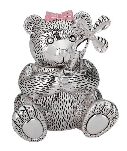 Bank Sterling Silver Piggy (Reed & Barton Silver Plate Girl Bear Bank)