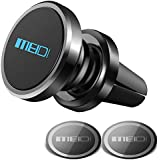 MEIDI Air Vent Phone Holder, Universal Magnetic Phone Car Mount 360 Rotation Cell Phone GPS Holder Compatible iPhone Samsung HTC and Mini Tablets(Black)