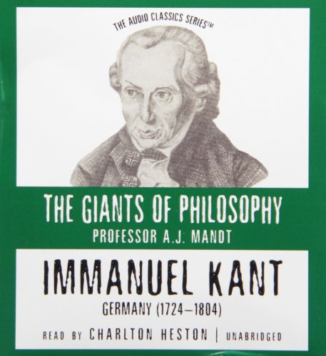 Immanuel Kant (Giants of Philosophy) by Brand: Blackstone Audiobooks