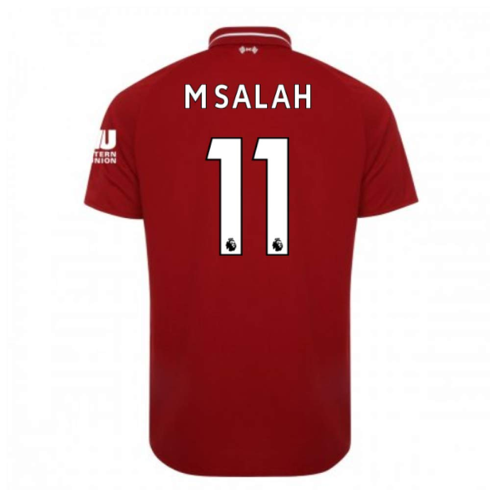 2018-2019 Liverpool Home Football Soccer T-Shirt Camiseta (Mohammad Salah 11) - Kids: Amazon.es: Deportes y aire libre