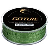 Goture 8-80LB Superpower Braided Fishing Line-Zero Stretch and High Tension Advanced Multifilamentline for Saltwater and Freshwater - Army Green, Blue, Blackish Green, Grey, Yellow- 2017