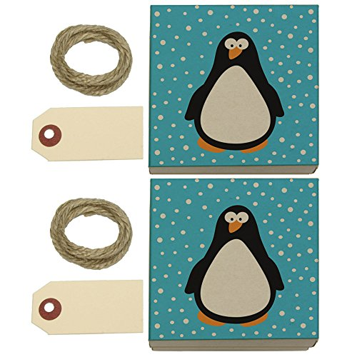 Penguin In Snow Kraft Gift Boxes Set of 2