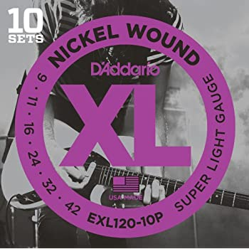 d addario xl nickel wound electric guitar strings super light gauge round wound. Black Bedroom Furniture Sets. Home Design Ideas