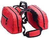 BINGPET Medium Dog Harness Backpack Doggie Saddlebags with 2 Removable Packs (Certified Refurbished)