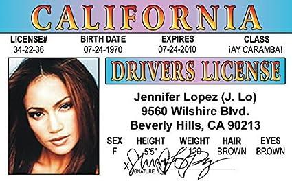 Jennifer Love Hewitt aka the Ghost Whisperer  fake i.d card Drivers License