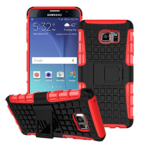 Anti-knock Shockproof Armor Case for Samsung Galaxy Note 5 Red - 3