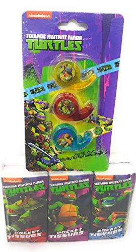 Back to School Toddler Pre-school Elementary School Supplies Tape Tissue TMNT Teenage Mutant Ninja Turtle