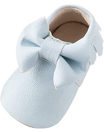 49330a4e3e6d NUWFOR Baby Boy Girl Cartoon Cute Cartoon Bow-Knot Shoes Warm Toddler Shoes  Winter White