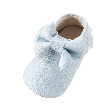 YanHoo Zapatos para niños Baby Boy Girl Dibujos Animados Cute Cartoon Bow-Knot Shoes Warm Toddler Shoes Winter Zapatos para niñas pequeñas Zapatos de otoño ...